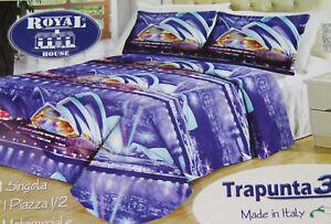 Piumone Matrimoniale Azzurro.Trapunta Piumone Matrimoniale Royal House Stampa 3d