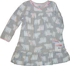 0d5460b1d2f9 Carters Pajamas White Fleece Girls Night Gown Long Sleeve Size 4t ...
