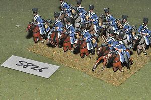 25mm-NAPOLEONICO-PRUSSIANO-Dragoni-12-Cavalleria-in-metallo-verniciato-CAV-5826