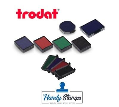 Green Pack of 10 Trodat Swop Pads 6//4912 Replacement Ink Pads