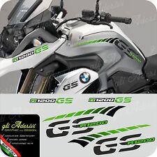 Kit Adesivi Fianco Serbatoio Moto BMW R 1200 gs LC stripes racing becco GREEN