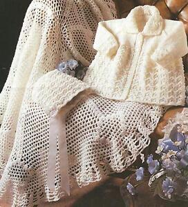 Knitting Pattern Baby Shawl 4 Ply : BABY KNITTING CROCHET PATTERN CIRCULAR SHAWL & COAT DK & 4 ply 16-20&...