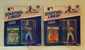 MLB 1989 Starting Lineup figures & cards lot - Ozzie Smith, Tim Raines, MIP