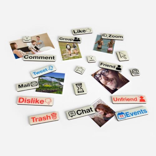 Gift House International Social Talk Magnets Pack of 18