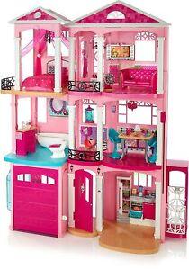 Barbie la casa dei sogni dream house 3 piani 7 stanze 70 for Piani personalizzati per la casa dei sogni