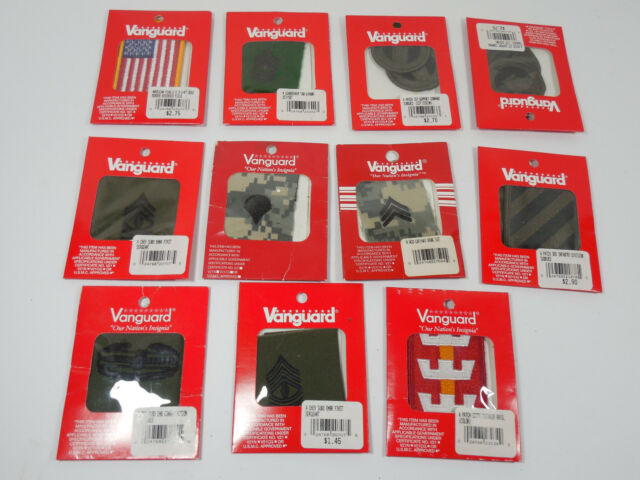 Mixed Lot Vanguard Military Insignia Patches