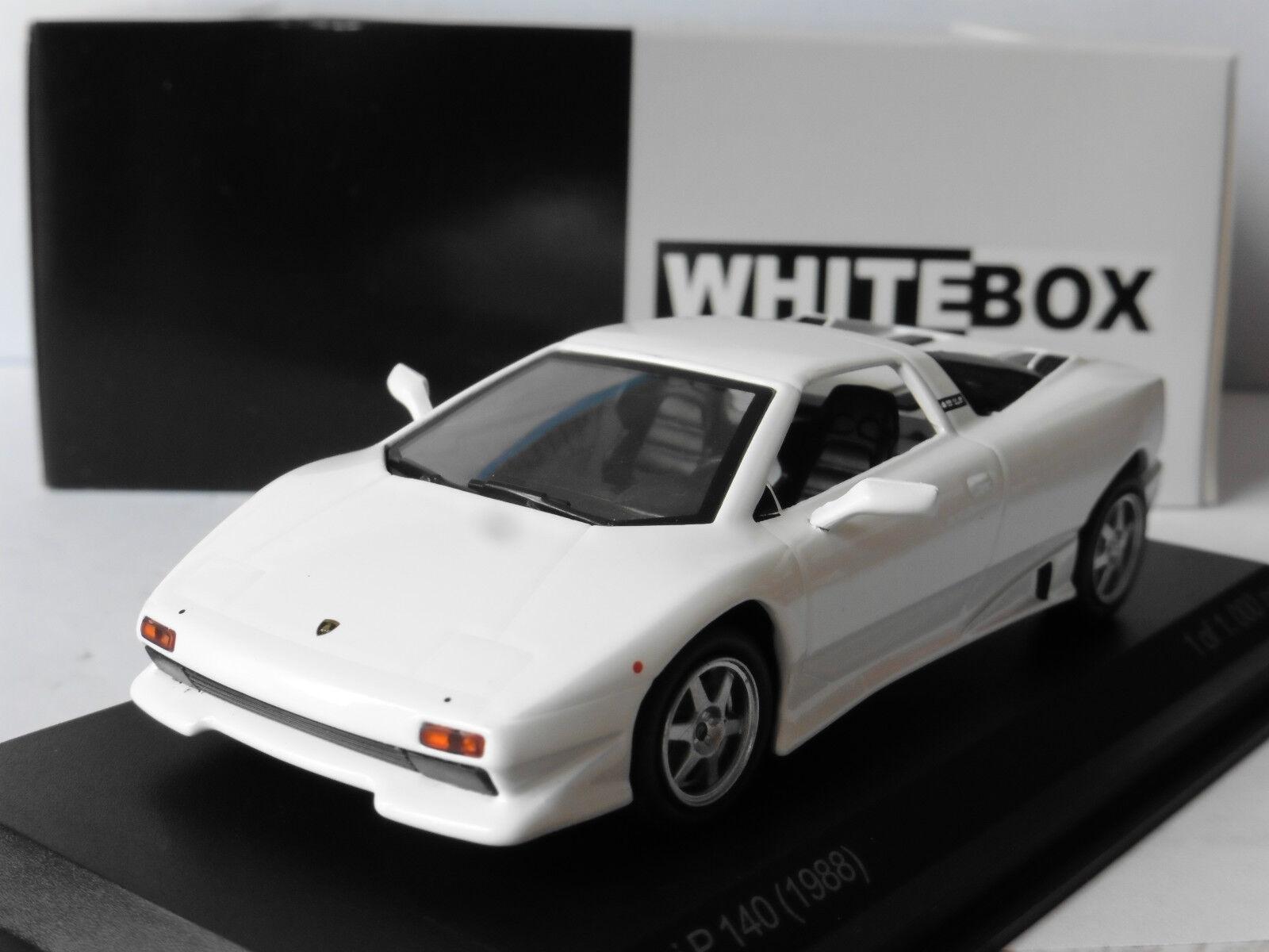 LAMBORGHINI P140 1988 blanc blancBOX WB505 1 43 WEISS blanc BLANCHE ITALIA