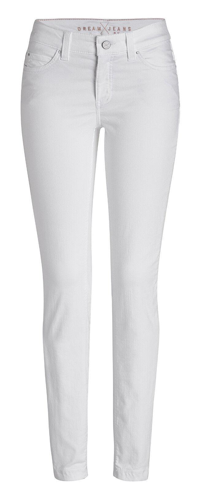 MAC Damen Jeans Dream Skinny 5402 Weiß denim D010 Alle Größen Längen