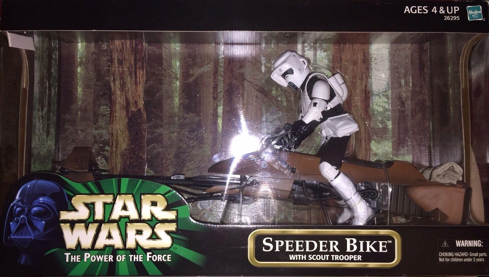 Hasbro Estrella Wars 2000, el poder de la fuerza Speeder Bike W scout Trooper 12