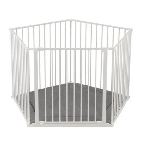 white BabyDan Park-a-kid Playpen Metal Toddler Safety Portable travel Playpen