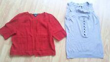 Ladies sweater top lot red crochet Ralph Lauren 100% cotton + Laltramoda top
