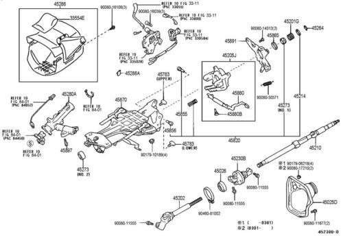 2003-2004 Toyota Avalon Steering Column Trim New OEM Fawn Tan 4528607904E4