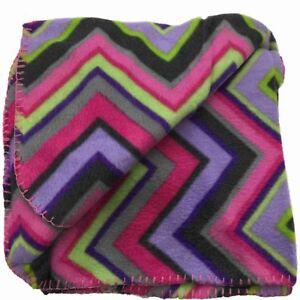 Basic-Soft-Fleece-Throw-Blanket-with-Purple-amp-Pink-Stripes-50x60