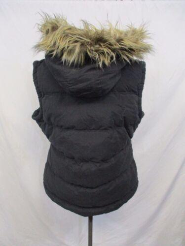 Wisconsin Badgers Women/'s L Full Zip /'Faux Hoodz/' Hooded Vest NCAA