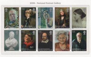 2006-DECIMAL-COMMEMORATIVES-SG2640-2649-NATIONAL-PORTRAIT-GALLERY-UNMNTD-MINT