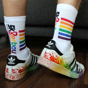 Sk8erboy-GAY-PRIDE-Rainbow-Regenbogen-Socks-NEU-OVP
