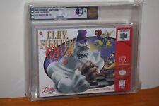 Clay Fighter 63 1/3 (Nintendo 64 N64) NEW SEALED V-SEAM, MINT GOLD VGA 85+!