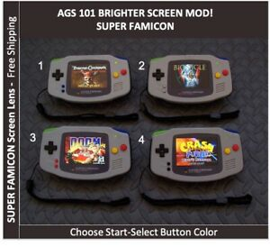 Nintendo Game Boy Advance GBA SUPER FAMICOM AGS 101 Brighter Mod Backlit System