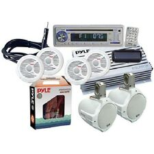 *KIT* Pyle Marine Audio Package w/6 Speakers, CD/USB/MP3/Combo, Stereo Cover