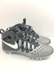 5e3dbbe45281 New Nike Huarache V5 LAX Lacrosse Cleats Shoes Grey White 807142-010 ...