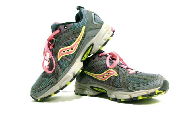 SAUCONY EXCURSION TR6 Gray w Pink/Lime