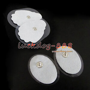 2//10//20x Replacement Pads for Massagers EMS Tens Units electrode  White Cloth DE