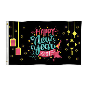 Happy New Year Eve Party Celebration Outdoor Home Decor ...