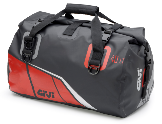 61e516cf5e3 GIVI Ea115br Waterproof Roll Bag Seat Tail Holdall Black Red Moto  Motorcycle 40l for sale online