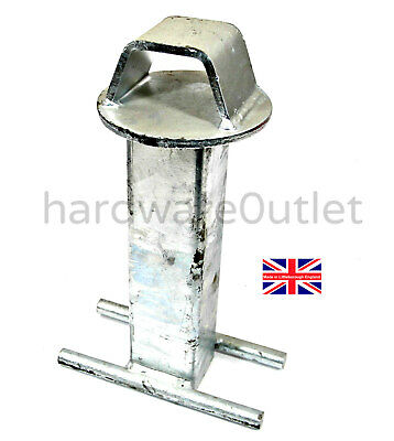 CEMENT IN GROUND ANCHOR FOR MOTORBIKE BICYCLE MOWER MOTORCYCLE TRAILER