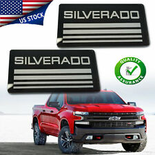 1pair For Silverado Cab Emblem Badge Side Roof Pillar Logo Plate For Checy Tahoe