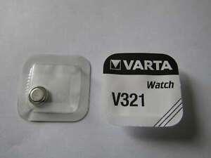 5x V321 Silber-Oxid Uhrenknopfzelle Batterie 1,55V SR65 Varta
