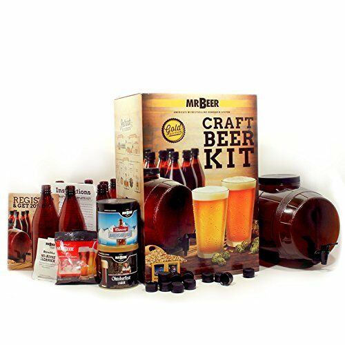 Home Beer Brewing Craft Kit 2 Gallon Fermenter GMO Free Malt Bar 4 Gallons