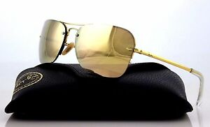 db6cc9f03d Image is loading RARE-Genuine-RAY-BAN-Gold-Copper-Mirror-Rectangle-