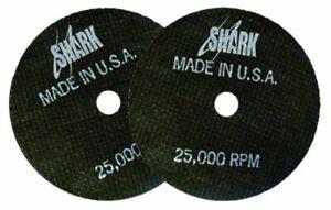 """Shark 12704 3"""" x 1/16"""" x 3/8"""" Double Reinforced Cut-off Wheels, 54-Grit, 10pk"""