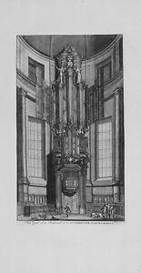 Antique-map-Het-orgel-en-de-predikstoel-in-de-luthersche-nieuwe-kerke