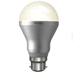 LED-TOSHIBA-6W-Ampoule-Gls-Economie-d-039-energie-B22-Blanc-Chaud-Dimmable