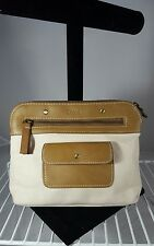 Chloe Clutch Bag in Cream and brown Handbag Purse Shoulder Bag