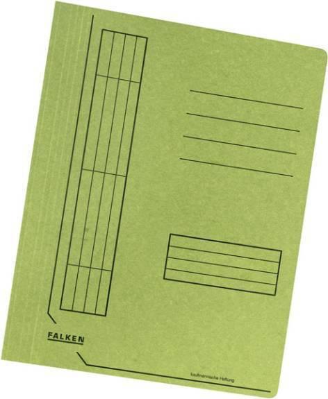 100 x Falken Schnellhefter DIN A4 Manila Recycling Karton RC Kartonschnellhefter