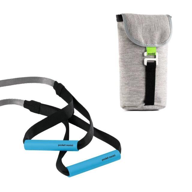 Pocket Monkii Fitness Resistance Straps Hanging Training Band Home Yoga Belt New