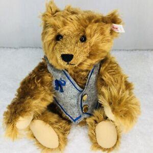 2000-Steiff-Bear-Club-Limited-Edition-Century-Jointed-Teddy-Vest-Growler-420221