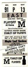 NHL STANLEY CUP PLAYOFFS 1970's Toronto Maple Leaf Gardens FULL UNRIPPED TICKET