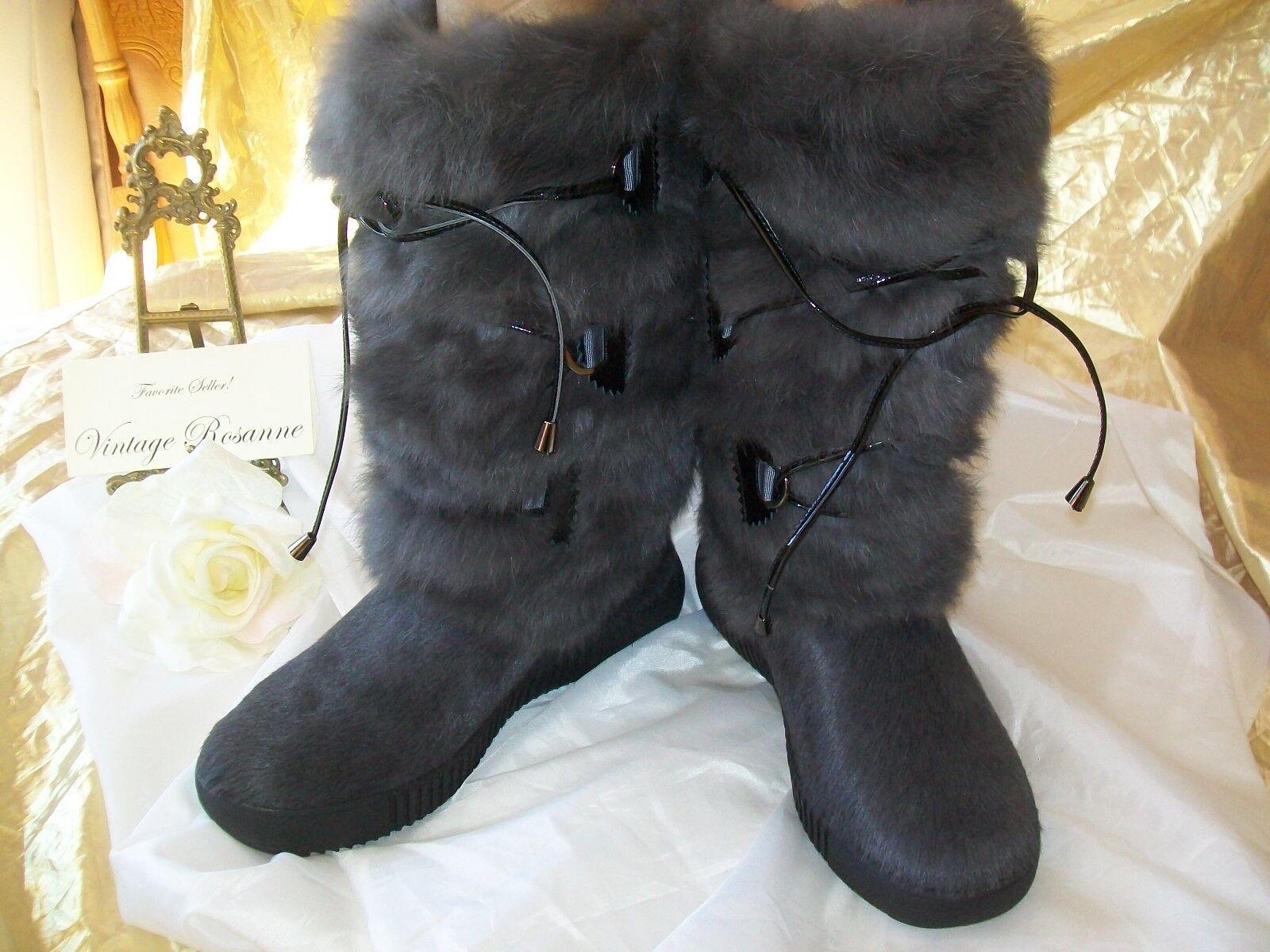 Pajar Juliana Fur Boot Charcoal Color Ladies Size 39 = 8 - 8.5 US Brand NEW Warm