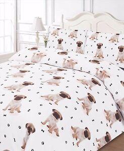 Carlin-Animal-Imprime-3Pcs-Parure-de-lit-avec-Housse-de-couette-avec-taies-d-039-oreiller-Ensemble