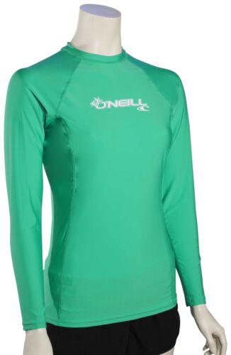 New Seaglass O/'Neill Women/'s Basic Skins LS Rash Guard