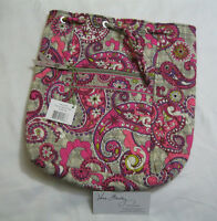 Vera Bradley Paisley Meets Plaid Backsack Backpack Bookbag Baby Diaper Bag,