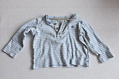Baby T-shirt Langarm Longsleeve Lupilu Gr 74/80 Hellblau Weiß Gestreift T-shirts & Tops Baby