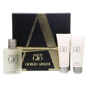 Giorgio-Armani-Men-039-s-Gift-Set-100ml-Acqua-Di-Gio-Eau-De-Toilette-3-Piece