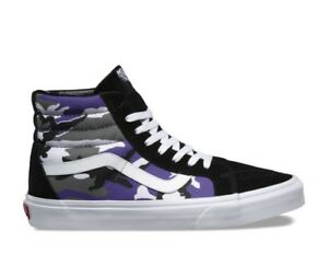 Vans Pop Camo SK8 Hi Reissue Size 8-13 Purple Black Heliotrope True ... 5e1f9c34a