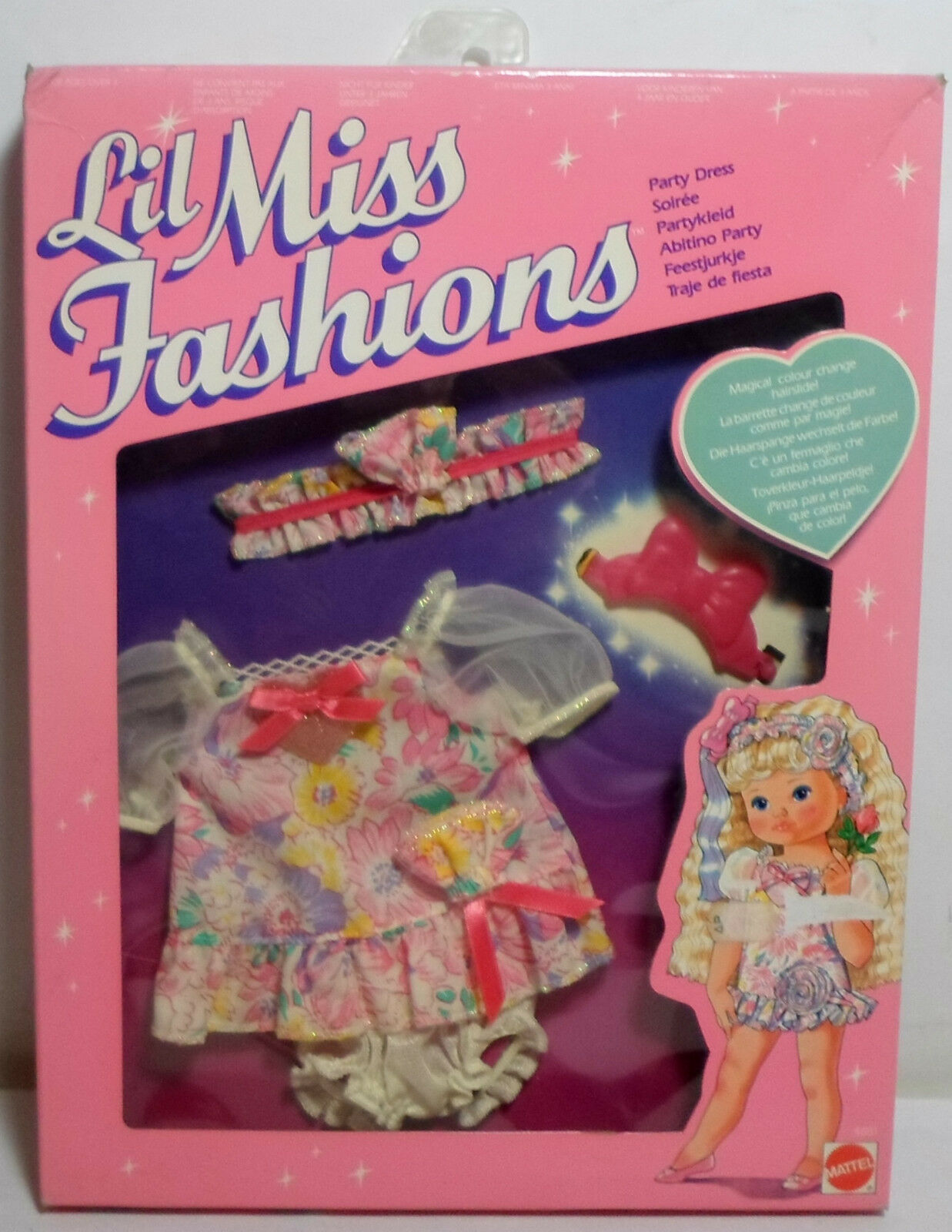 Mattel 1989 Petit Wee Lil Miss # 4881 Party Dress Fashions for Doll ...