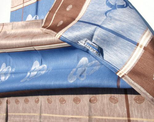 2x vaisselle foulards Café Bâton qui cuisine foulards à moitié lin Espresso Tasses Bleu